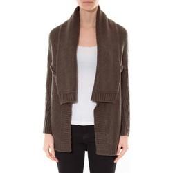 Kleidung Damen Pullover De Fil En Aiguille Gilet F de la passion 1470 Kaki Grün