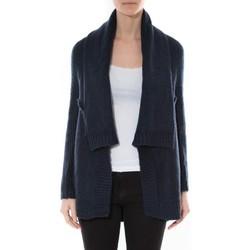 Kleidung Damen Pullover De Fil En Aiguille Gilet F de la passion 1470 Navy Blau
