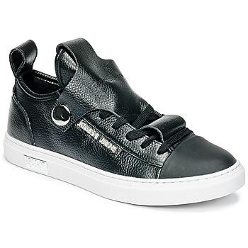 Schuhe Damen Sneaker Low Armani jeans RATONE Schwarz