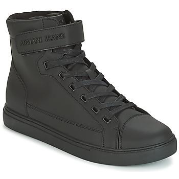 Schuhe Herren Sneaker High Armani jeans JEFEM Schwarz