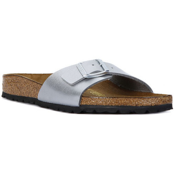 Schuhe Damen Pantoffel Birkenstock MADRID SILVER Argento