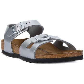 Schuhe Damen Sandalen / Sandaletten Birkenstock RIO SILVER Argento