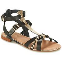 Schuhe Damen Sandalen / Sandaletten Bocage JARET Schwarz / Gold
