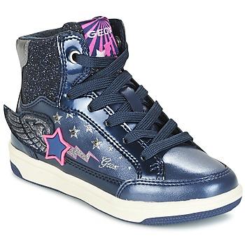 Schuhe Mädchen Sneaker High Geox J CREAMY A Marine / Rose