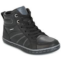 Schuhe Jungen Sneaker High Geox J GARCIA B. B Schwarz / Grau
