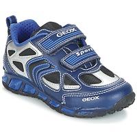 Schuhe Jungen Sneaker Low Geox J SHUTTLE B. A Marine / Blau