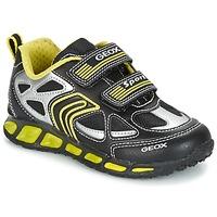 Schuhe Jungen Sneaker Low Geox J SHUTTLE B. A Schwarz / Gelb