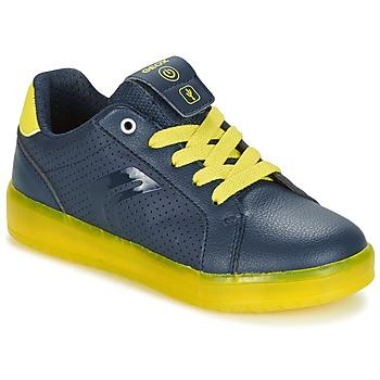 Schuhe Jungen Sneaker Low Geox J KOMMODOR B.B Marine / Gelb