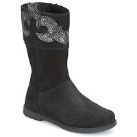 Schuhe Mädchen Klassische Stiefel Geox J SHAWNTEL G. C Schwarz