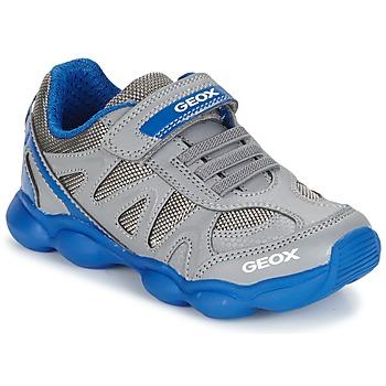 Schuhe Jungen Sneaker Low Geox J MUNFREY B. A Grau / Blau