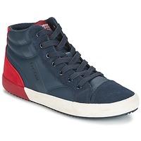 Schuhe Jungen Sneaker High Geox J ALONISSO B. A Marine / Rot