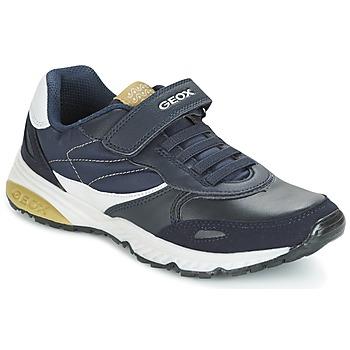 Schuhe Jungen Sneaker Low Geox J BERNIE A Marine / Grün