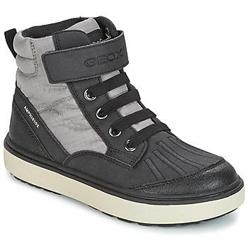 Schuhe Jungen Sneaker High Geox J MATT.B ABX B Grau / Schwarz