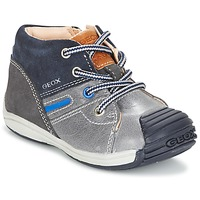 Schuhe Jungen Sneaker High Geox B TOLEDO B. A Grau / Marine