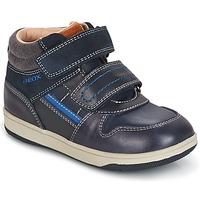 Schuhe Jungen Sneaker High Geox B NEW FLICK B. A Marine / Blau