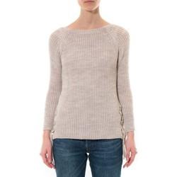Kleidung Damen Pullover De Fil En Aiguille Pull Lacets Beige Beige