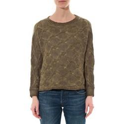 Kleidung Damen Pullover De Fil En Aiguille Pull  Wiya Kaki  W7903 Grün