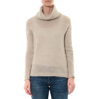 Kleidung Damen Pullover De Fil En Aiguille Pull col roulé Beige Beige