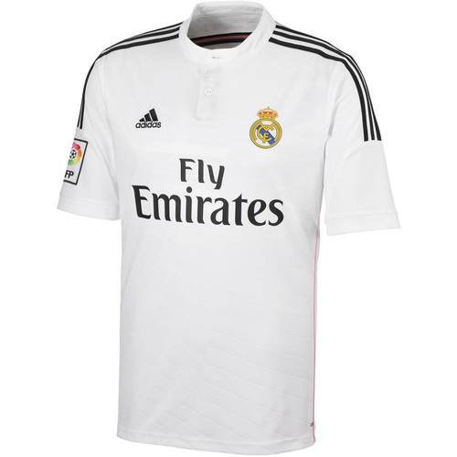 Kleidung Herren T-Shirts adidas Performance Maillot Real Madrid domicile 2014/15 Weiss