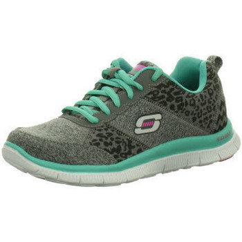 Schuhe Damen Sneaker Low Skechers Usa Deutschl.gmbh NV CCTQ°charcoal/turquo