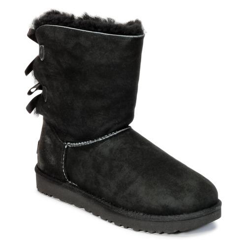 Schuhe Damen Boots UGG BAILEY BOW II Schwarz