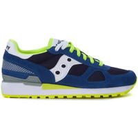Schuhe Herren Sneaker Saucony Sneakers Shadow in Suède Royal Blau Blue