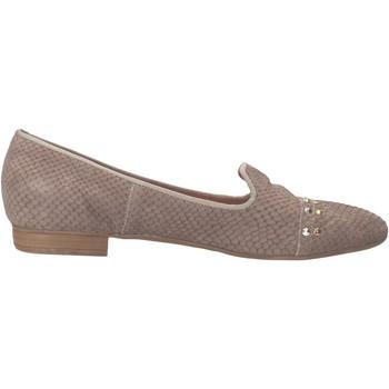 Schuhe Damen Slipper Carmens Padova mokassins grau pythonleder AF36 grau