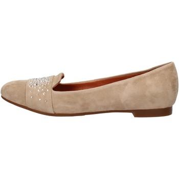 Schuhe Damen Slipper Carmens Padova mokassins beige wildleder AF37 beige