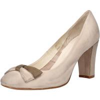 Schuhe Damen Pumps Carmens Padova pumps beige leder wildleder AF52 beige