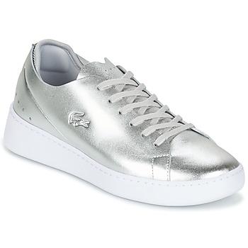 Schuhe Damen Sneaker Low Lacoste EYYLA Silbern