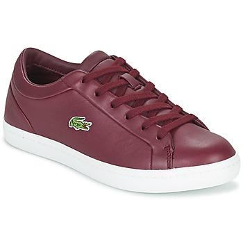Schuhe Damen Sneaker Low Lacoste STRAIGHTSET LACE Bordeaux