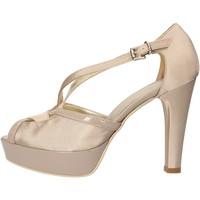 Schuhe Damen Sandalen / Sandaletten Sergio Cimadamore sandalen beige satin lack AF482 beige