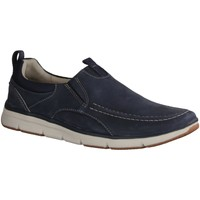 Schuhe Herren Slip on Clarks Orson Row- Herrenschuhe Slipper, Blau, leder 534