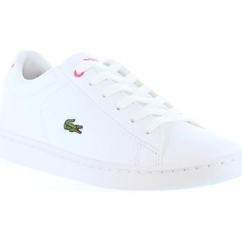 Schuhe Kinder Sneaker Lacoste 33SPC1003 CARNABY B53 WHT-PNK Blanco