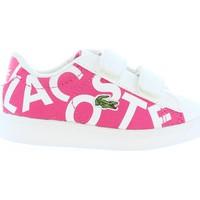Schuhe Kinder Sneaker Lacoste 33SPI1000 CARNABY F50 PNK-WHT Rosa