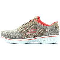 Schuhe Damen Sneaker Low Skechers Go Walk 4 Exceed Grau