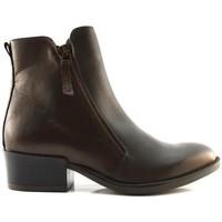 Schuhe Damen Boots Manas LEON Marron