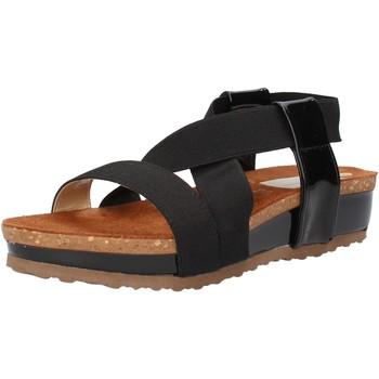 Schuhe Damen Sandalen / Sandaletten Olga Rubini sandalen schwarz textil lack AF792 schwarz