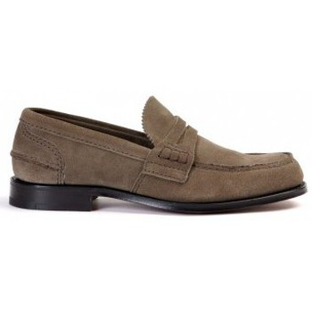 Schuhe Herren Slipper Church's Mocassino  Pembrey in camoscio Braun
