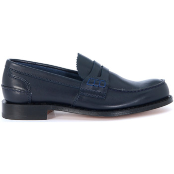 Schuhe Herren Slipper Church's Mokassins Pembrey Blau Blue