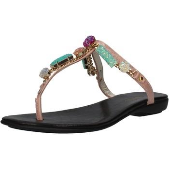 Schuhe Damen Sandalen / Sandaletten Cesare P. By Paciotti CESARE P. sandalen pink lack AF935 pink
