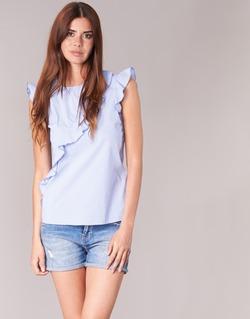 Kleidung Damen Tops / Blusen Morgan MARFIZ Blau / Weiss