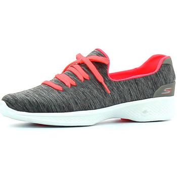 Schuhe Damen Sneaker Low Skechers Go Walk 4 All Day Comfort Grau