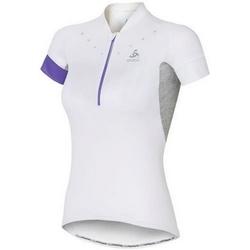 Kleidung Damen T-Shirts Odlo Stand-Up Collar Short Sleeve 1/2 Zip Isola 410911-10000 White