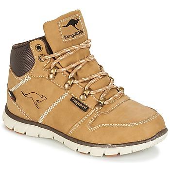 Schuhe Jungen Boots Kangaroos BLUERUN 2098 Honig