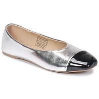 Schuhe Damen Ballerinas Vero Moda STAR BALLERINA Silbern / Schwarz