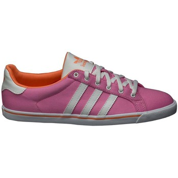 Schuhe Damen Sneaker Low adidas Originals Court Star Slim W Rosa-Weiß