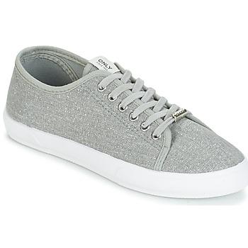 Schuhe Damen Sneaker Low Only SAPHIR GLITTER Grau