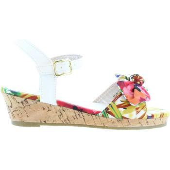 Schuhe Mädchen Sandalen / Sandaletten Flower Girl 340093-B4600 Blanco