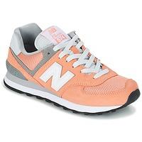 Schuhe Damen Sneaker Low New Balance WL574 Pfirsisch